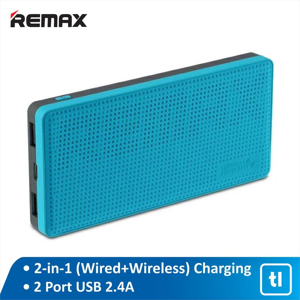 Powerbank Wireless Remax Miles 10000mAh RPP-103 2.4A Original Garansi/ Powerbank Wireless Remax