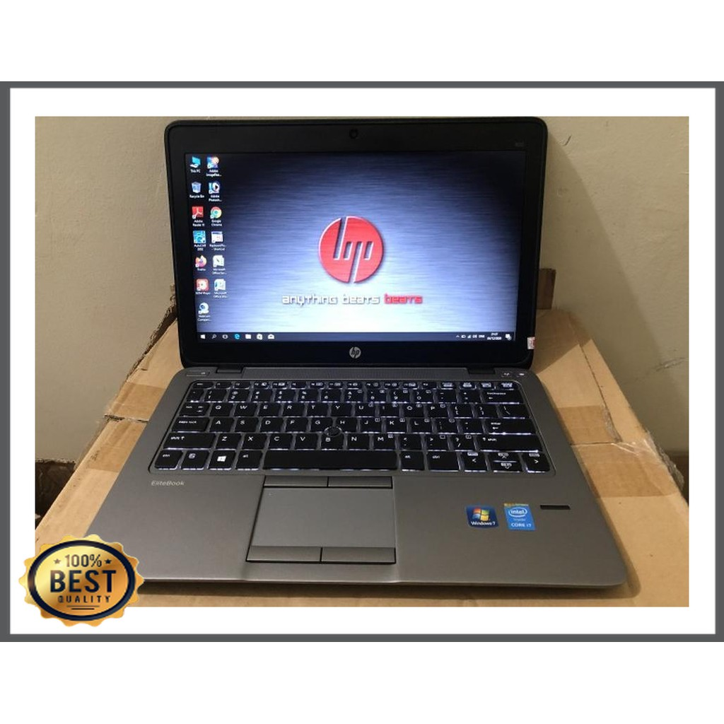 Laptop Hp Elitebook 820 G2 Core i7 Gen 5 RAM 8GB SSD 256 Slim Murah - 8GB 256 SSD