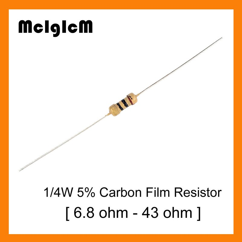 Pack of 30 Carbon Film Resistor 33K 0.5W 5/%