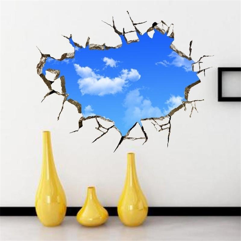 Stiker Dinding Dengan Bahan Mudah Dilepas Dan Gambar Kacamata