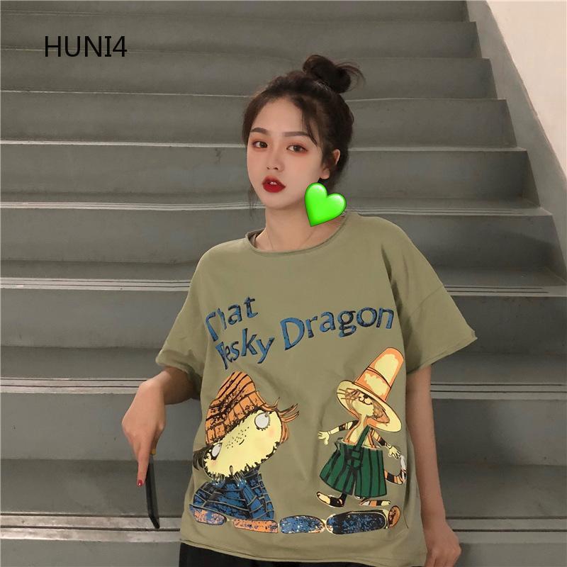 Huni04 Id Woman T Shirt Dailywoman Tops Explosion Models Lady