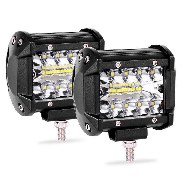 """2PCS 4/""""INCH 200W LED Light Bar Spot Flood Pods Lights Off-Road Tractor 4WD 12V"""