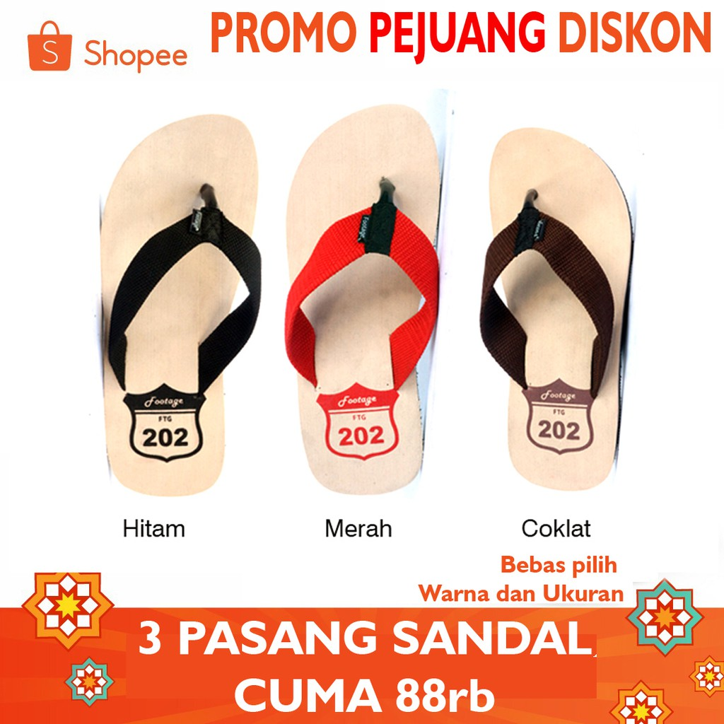 Sandal Gunung Footage 205 Beli 1 Gratis Ftg Shopee Indonesia Ardiles Men Cooldots Biru 39