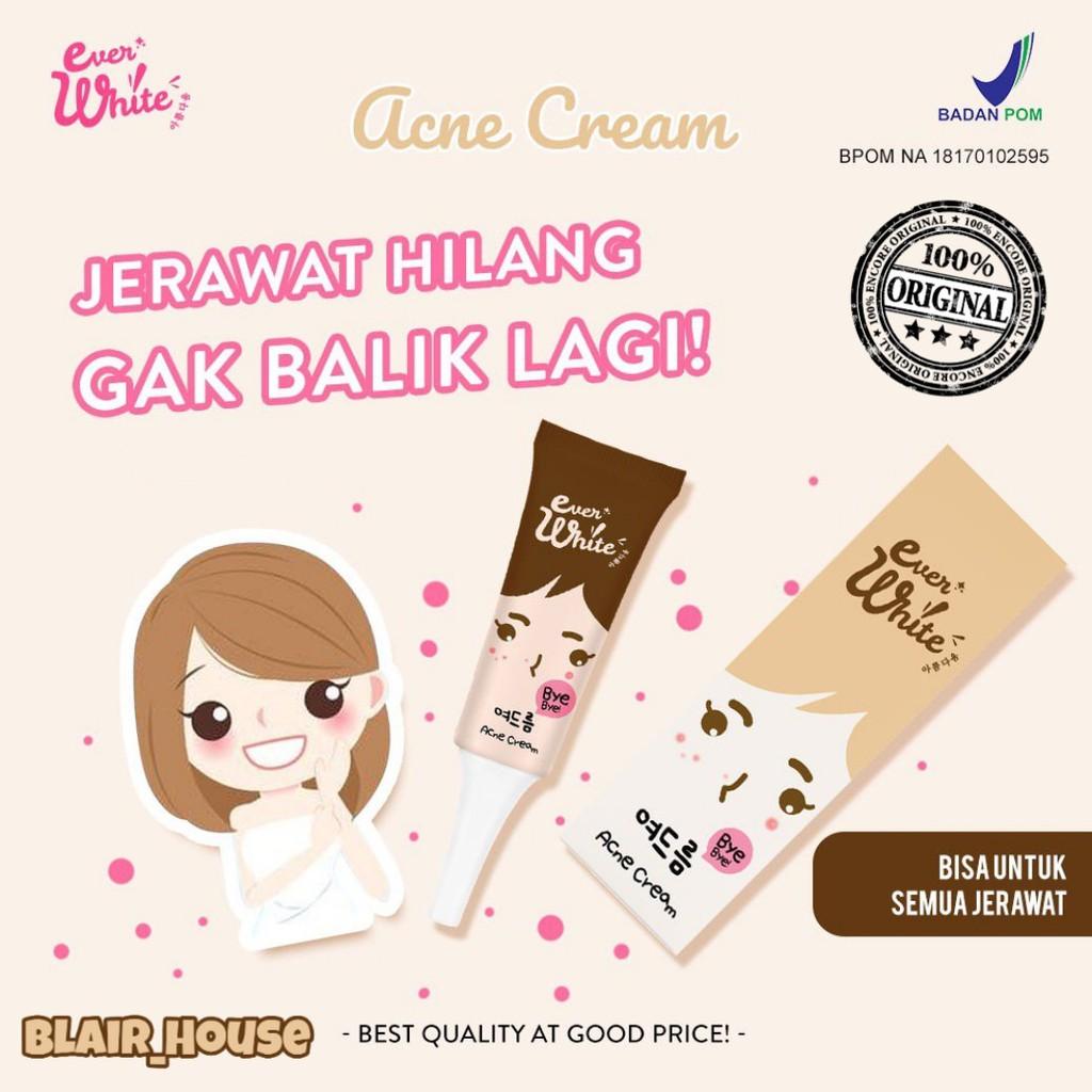 EverWhite Acne Cream/ Ever White Obat Jerawat BPOM 100% Original | Shopee Indonesia