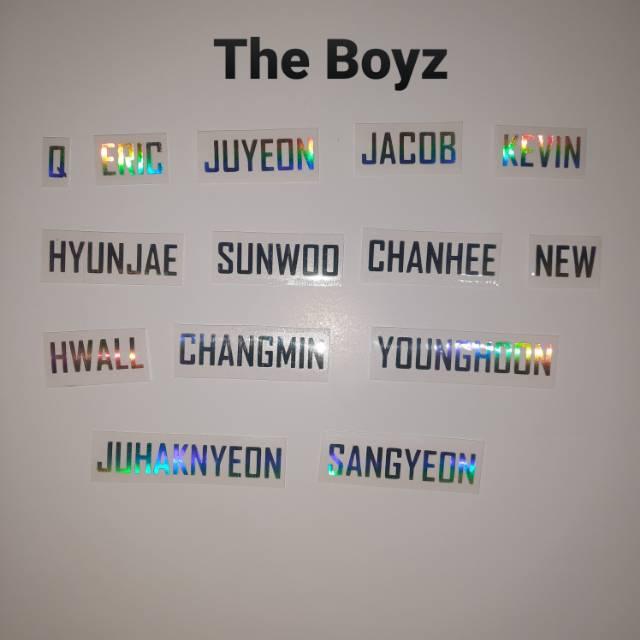Stiker Hologram The Boyz Stiker Holo The Boyz Part 1 Latin Shopee Indonesia
