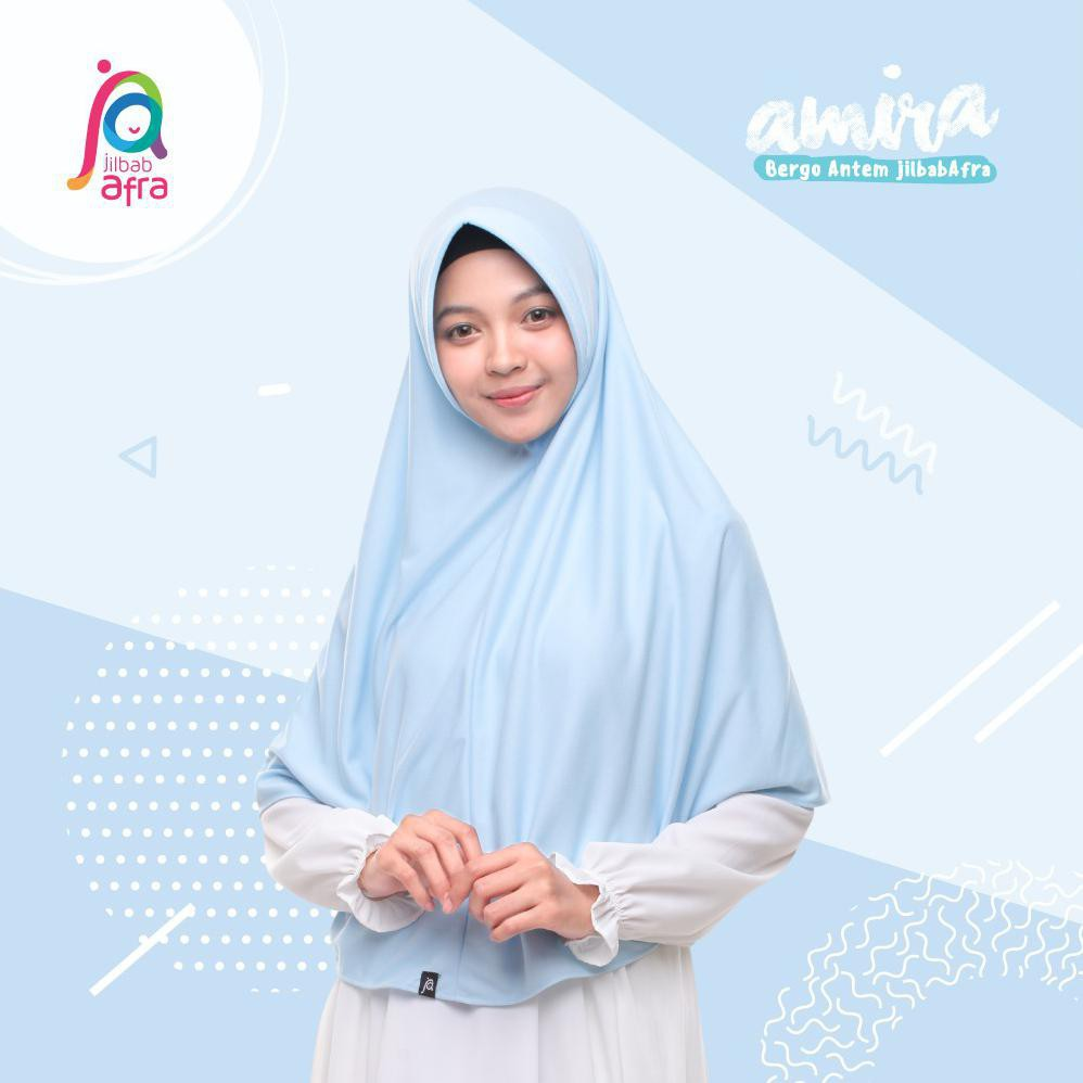 Jilbab instan Amira jilbab afra khimar anak sekolah pet antem khimar jumbo jilbab syar'i | Shopee Indonesia