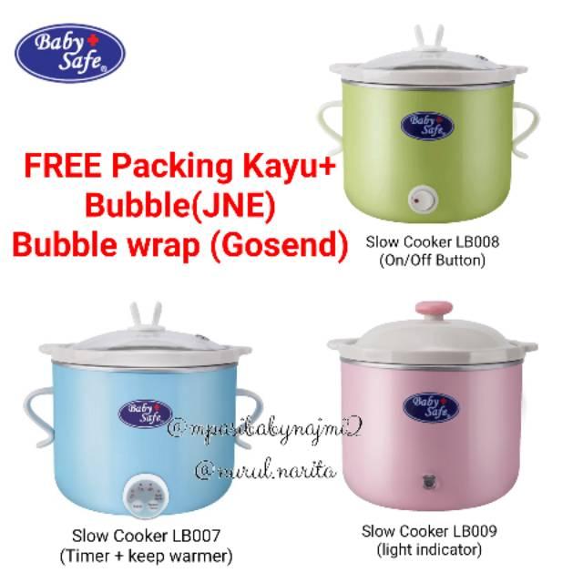 Baby Safe Slow Cooker LB007 LB008 LB009 Babysafe Food Maker Bayi ( SUDAH ASURANSI ) | Shopee Indonesia
