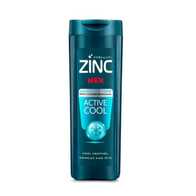 ZINC Men Active Cool Shampoo 170ml | Shopee Indonesia