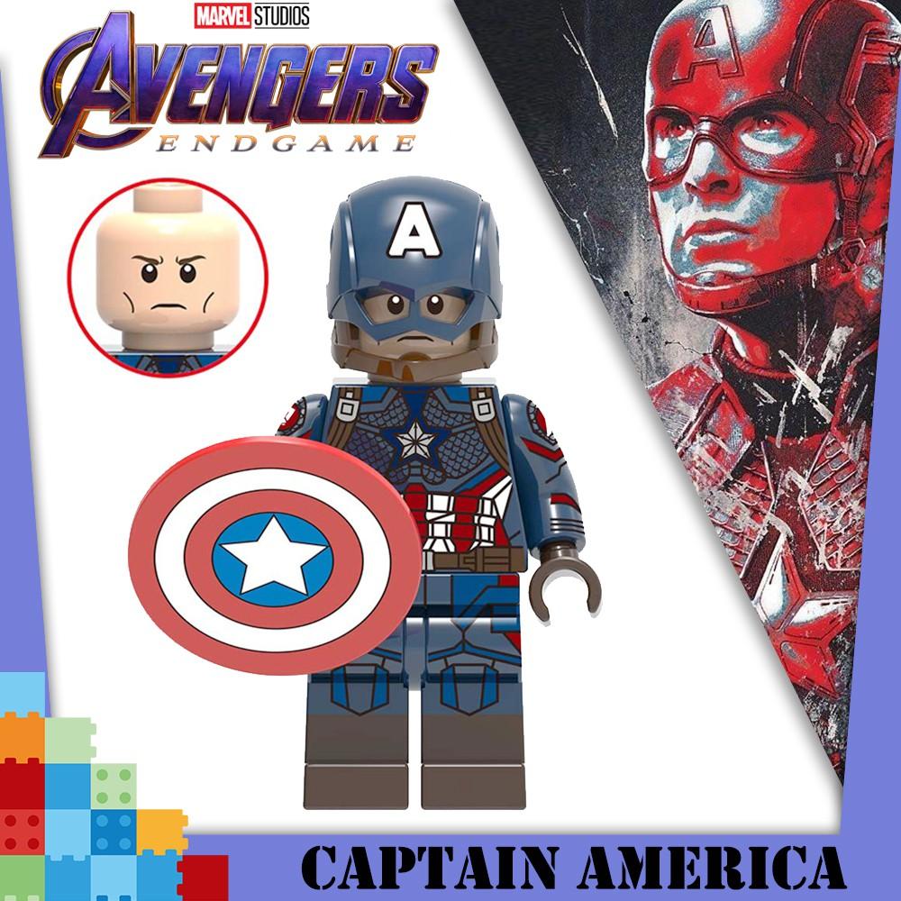 Avengers4 Endgame Captain America Minifigures Blok Bangunan Kompatibel Lego Shopee Indonesia