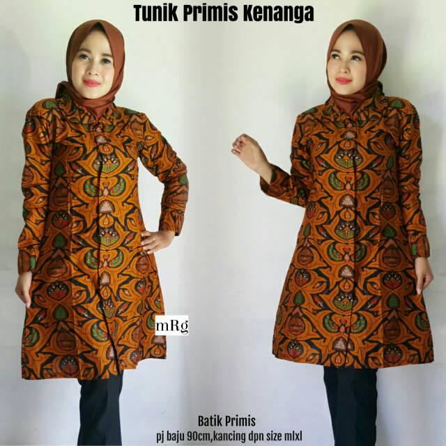 Tunik Batik Wanita Muslim Tunik Batik Kerja Atasan Tunik Muslim Jual Tunik Murah Tunik Batik