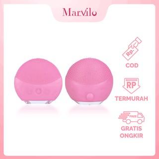 Marvilo Pembersih Wajah Elektrik Waterproof Bentuk Bulat thumbnail