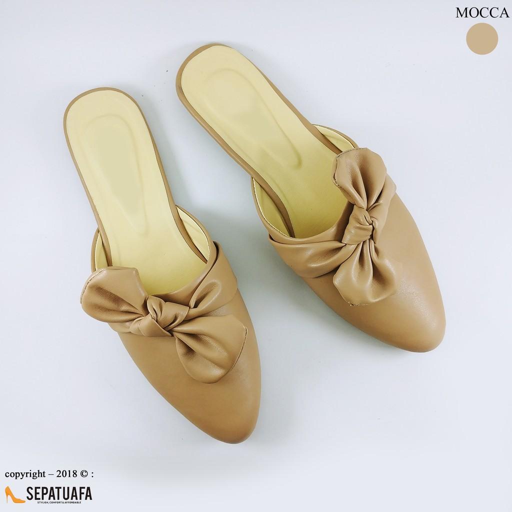 Sepatuafa - Flat Shoes Sepatu Teplek Kirana AS28 - Coklat  f4ce4311da