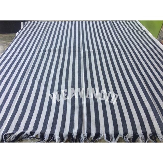 Tenun Lurik Blanket Tenun Jepara Hitam Putih   Shopee Indonesia
