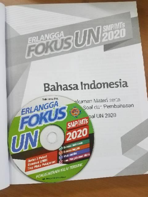 Buku Erlangga Fokus Un Smp Mts 2020 Kunci Jawaban Cd 100 Original Shopee Indonesia