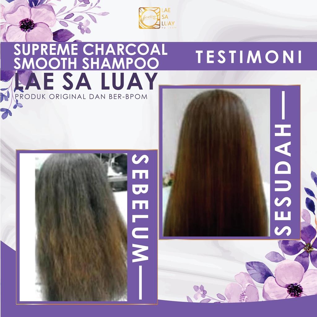 BPOM Lae Sa Luay Supreme Charcoal Smooth Shampoo / Keratin Shampoo 200ml-4