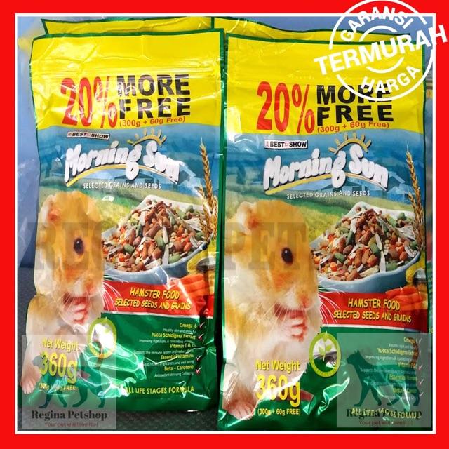 Makanan Hamster Best In Show Morning Sun 360 gr Impor Australia   Shopee Indonesia