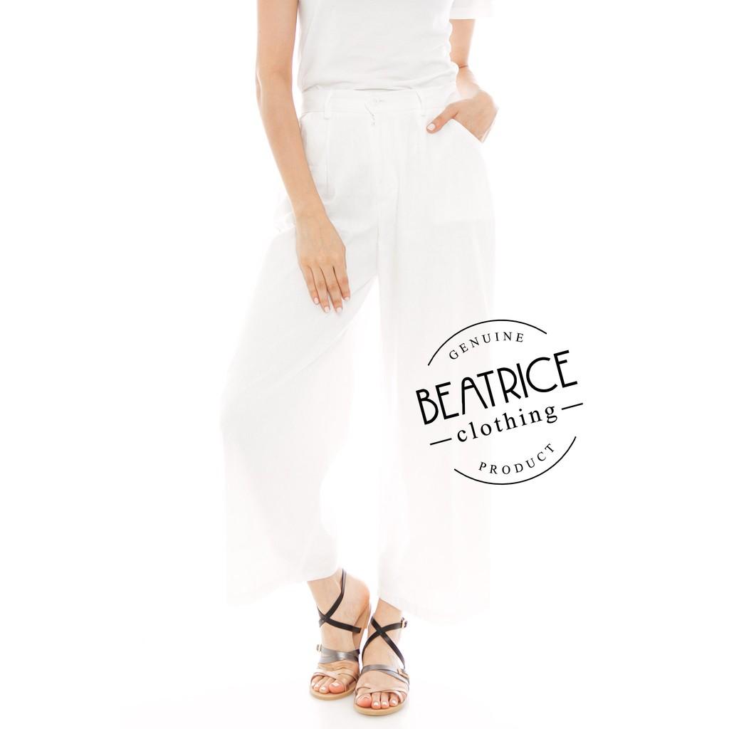 Beatrice Clothing Kama Linen Pants In Dark Grey Shopee Indonesia Alila Culottes Benji Red