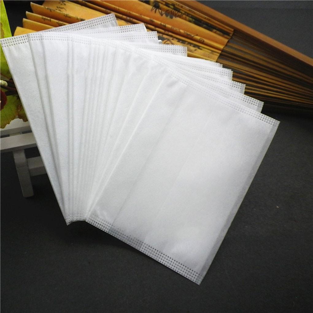 100Pcs Corn Fiber Empty Draw String Teabags Herb Tea Bag Loose Tea Bag Pouch White