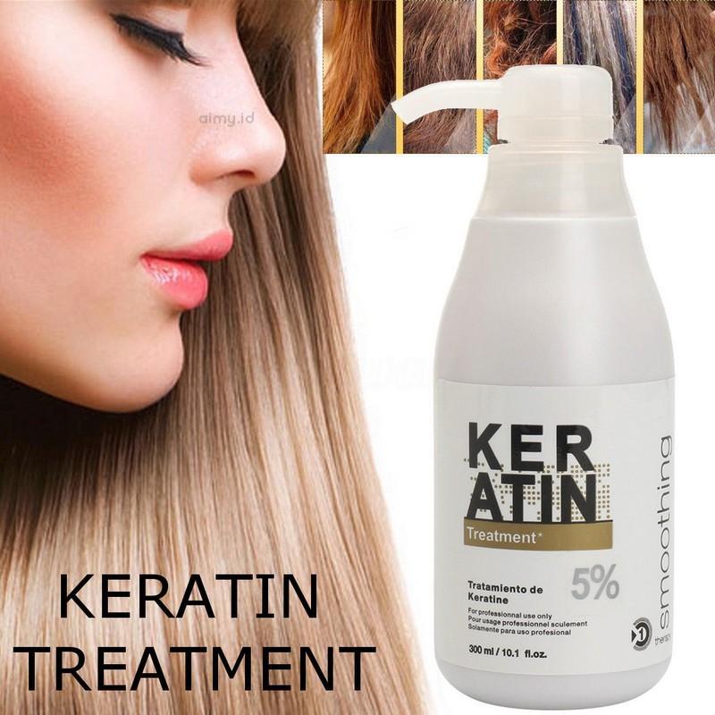 Pure 5 Brazilian Keratin Hair Straightening Treatment Dry Hair Repair Cream Shopee Indonesia