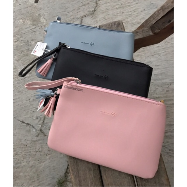 MINISO Dompet Clutch Bag with Tassels  5474a5ec91