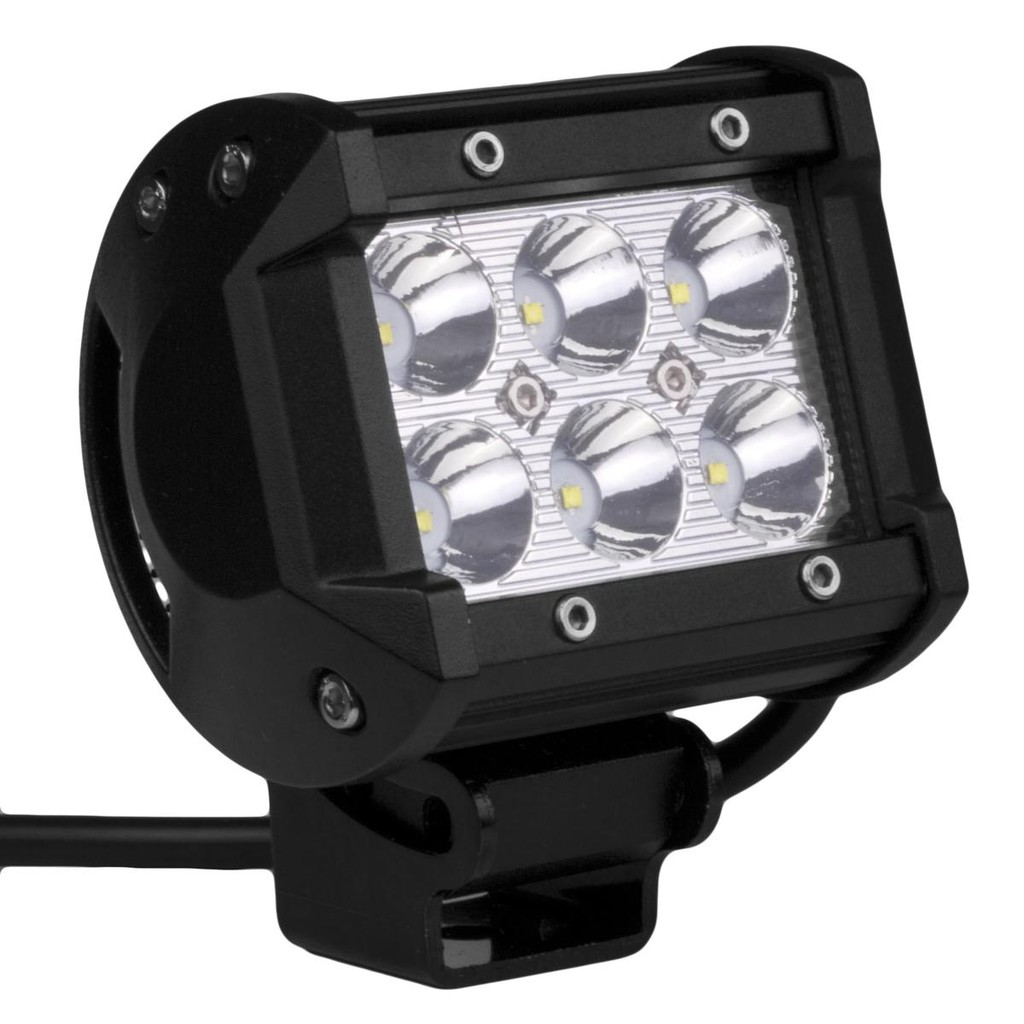 Lampu Sorot 6 LED Cree Worklight Spot Tembak Kabut 18W