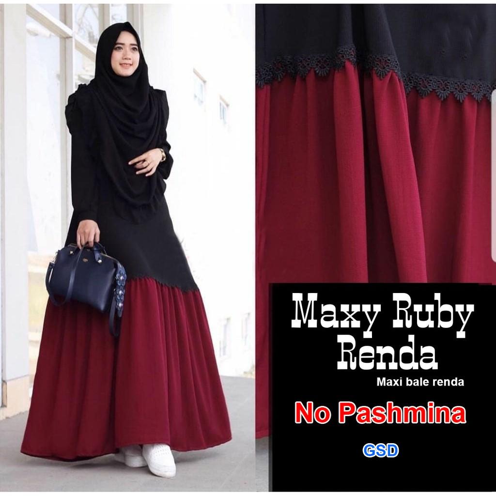 jilbab+Dress+Muslim+Gamis+Pakaian+Wanita+Maxi+Dress - Temukan Harga dan Penawaran Online Terbaik - Agustus 2018 | Shopee Indonesia