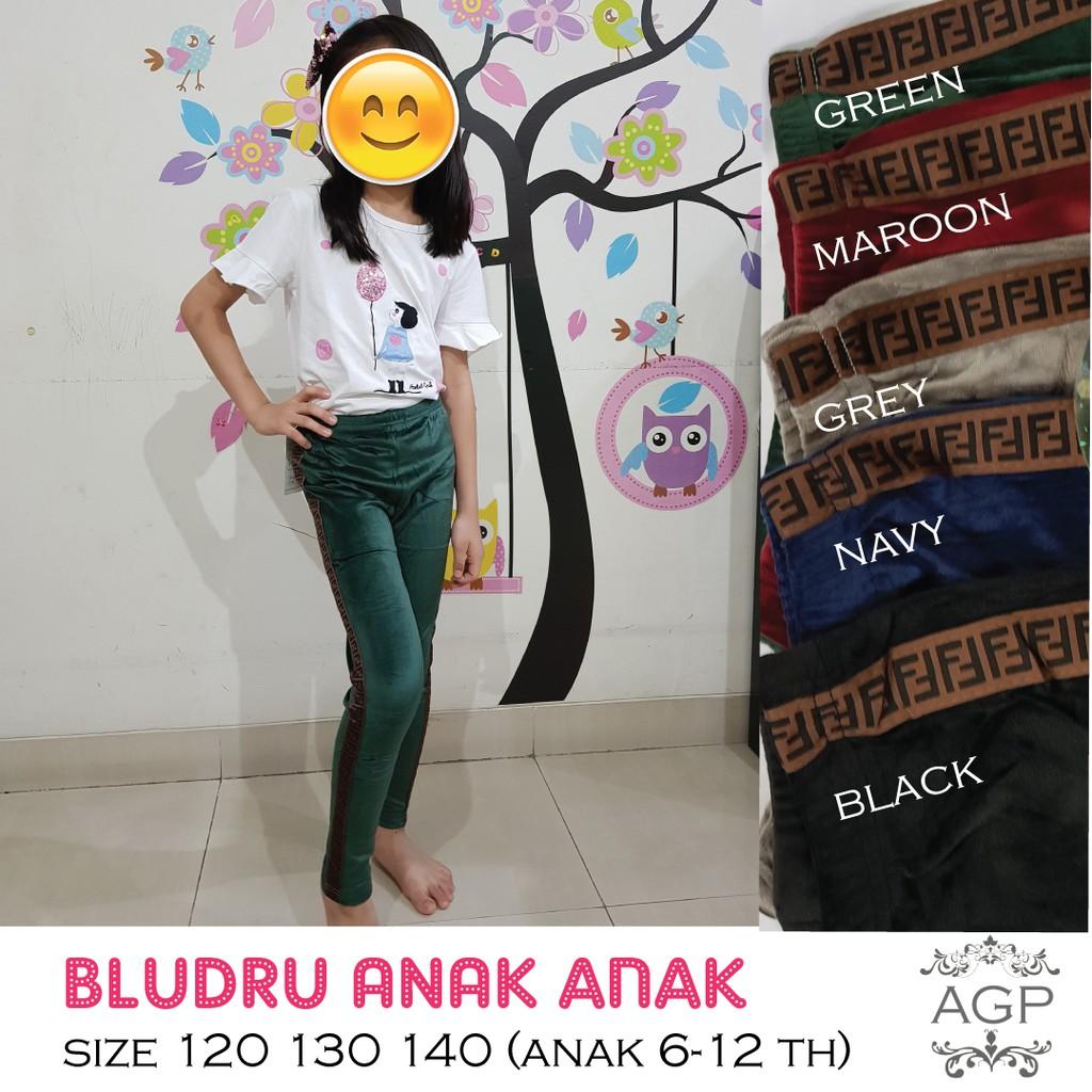 Legging Bludru Fendi Anak Tangung Celana Legging Bludru Bludru Velvet Anak Size 120 130 140 Shopee Indonesia