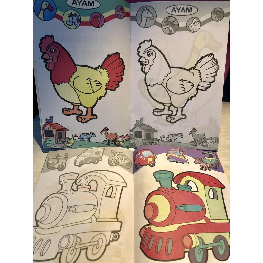 Buku Anak Buku Mewarnai Ukuran Medium Full Color
