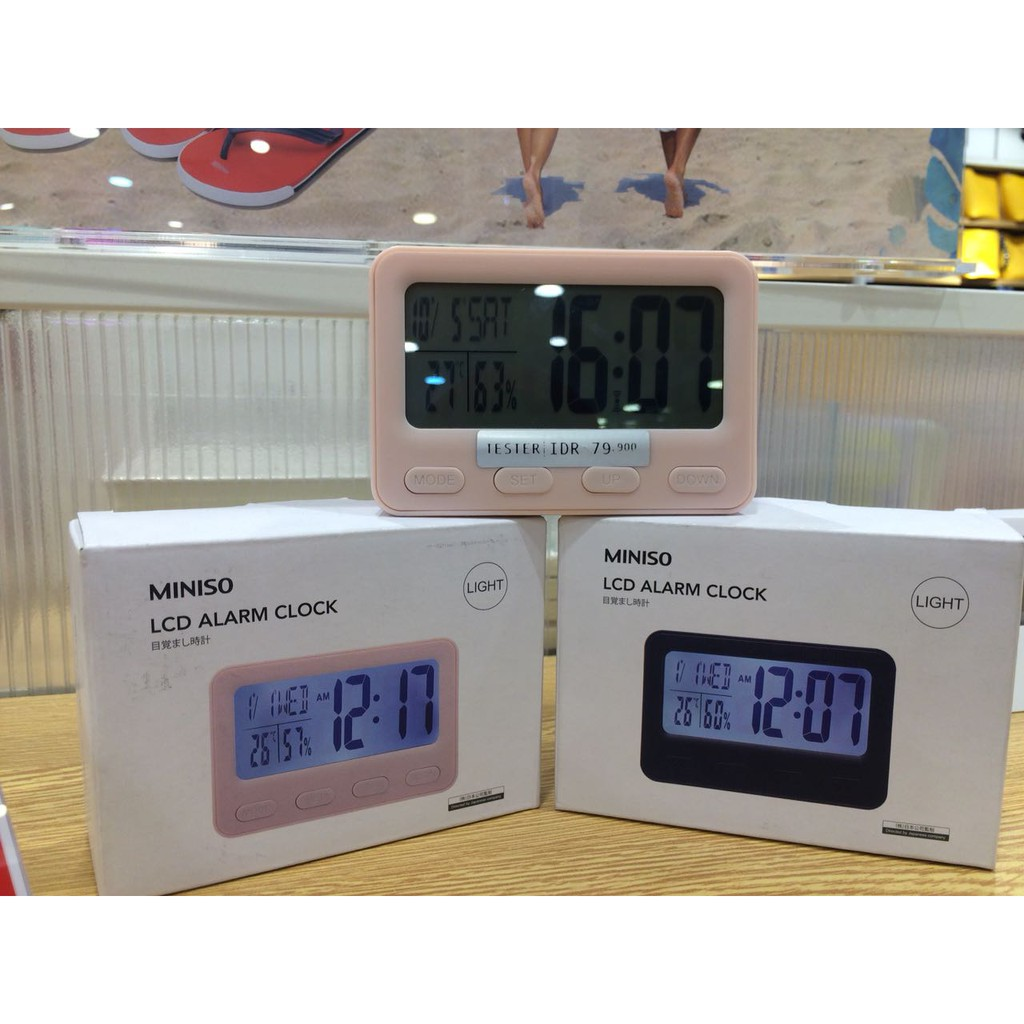Digital Alarm Clock with Weather Forecast Jam Waker MINISO  28ef1ac039