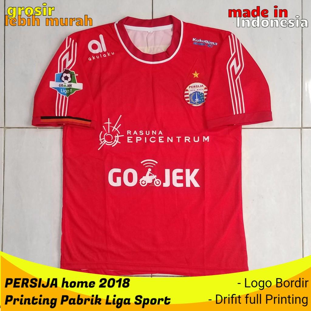 Jersey Persija Home Merah 2018 Printing Pabrik Liga Sport   Shopee Indonesia