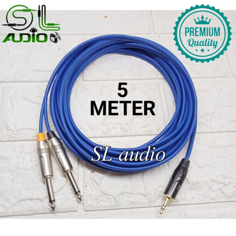 Kabel Jek Jack Hp Hape / Laptop Ke mixer audio jack 3,5mm to 2 akai mono