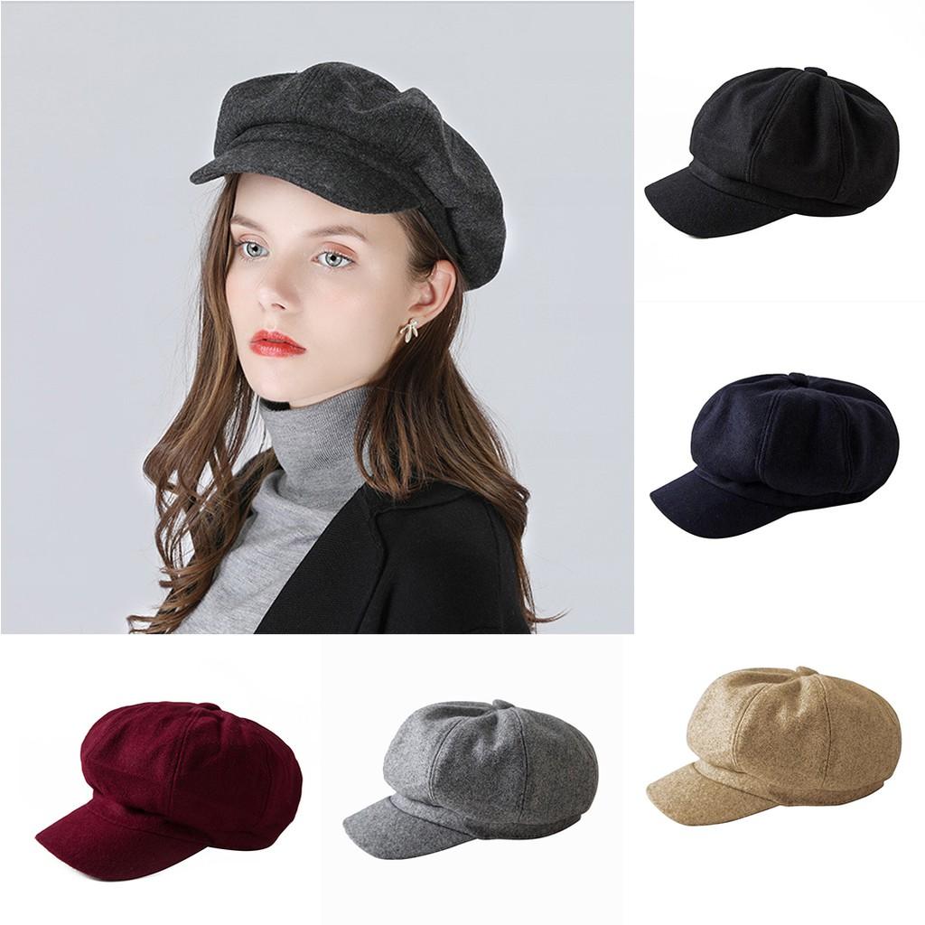 Topi Beret Wanita Elegan untuk Musim Gugur   Dingin  0db57359c6