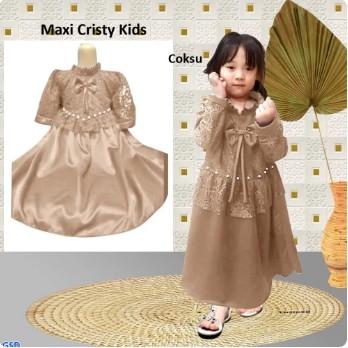 Baju Gamis Anak Syari Terbaru 2021 Model Kekinian Pesta Kondangan Usia 2 3 4 Tahun Brokat Premium