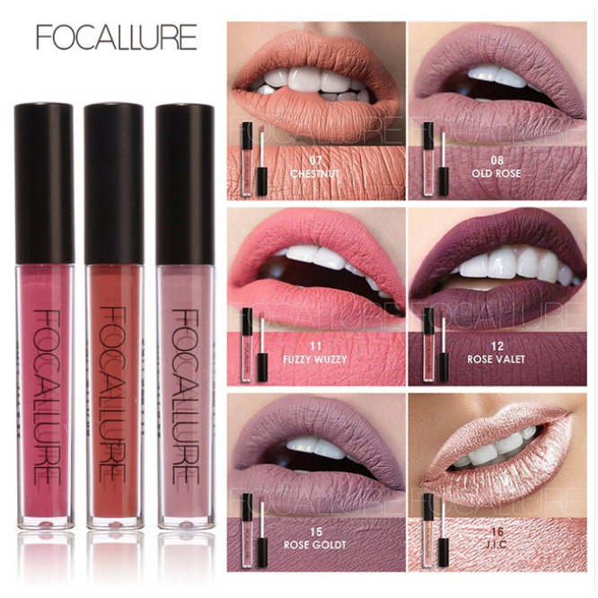 FOCALLURE Long Lasting Makeup Matte Lip Liner Liquid Lipstick Cosmetic 25 Colors | Shopee Indonesia