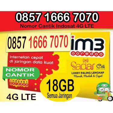 Nomor Cantik Triple 666 ujung ABAB 7070 Indosat 0857 1666 7070 Bonus kuota 18GB | Shopee Indonesia