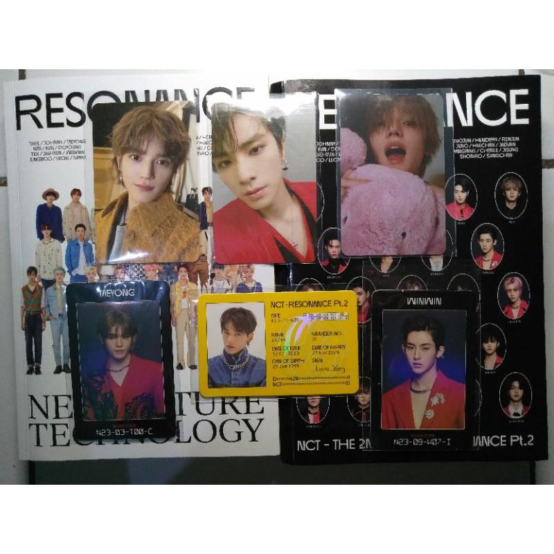 ALBUM ONLY NCT 2020 RESONANCE Part 2 Id Lucas AC Taeyong Winwin PC Taeyong Xiaojun Arrival ver