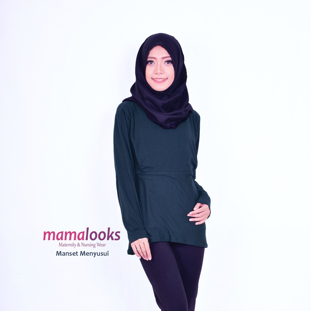 Baju Menyusui Manset Aisha Khaki Shopee Indonesia Just Mom Beyza Red Bv111