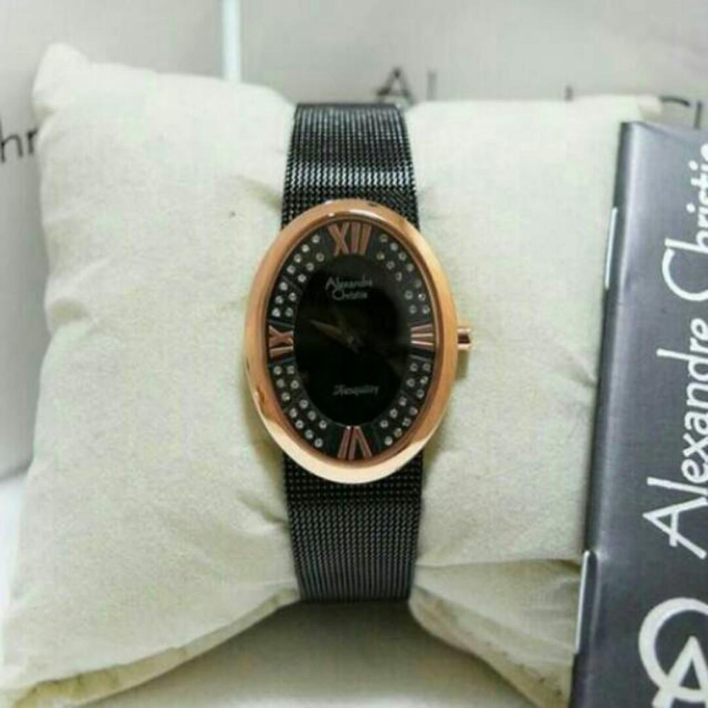 Alexandre Christie Ac 2503 Bf Btubu Jam Tangan Wanita 6442 Mc Black Rose Gold Shopee Indonesia