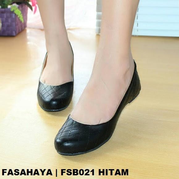Fasahaya Sepatu Wanita Flat Shoes Ballet Terbaru Murah FSB021 Hitam ... 94f8aa9e64