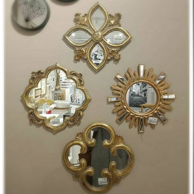 Hiasan Dinding Informa Cermin Dinding Wall Decor Cermin Hiasan Gold Shopee Indonesia