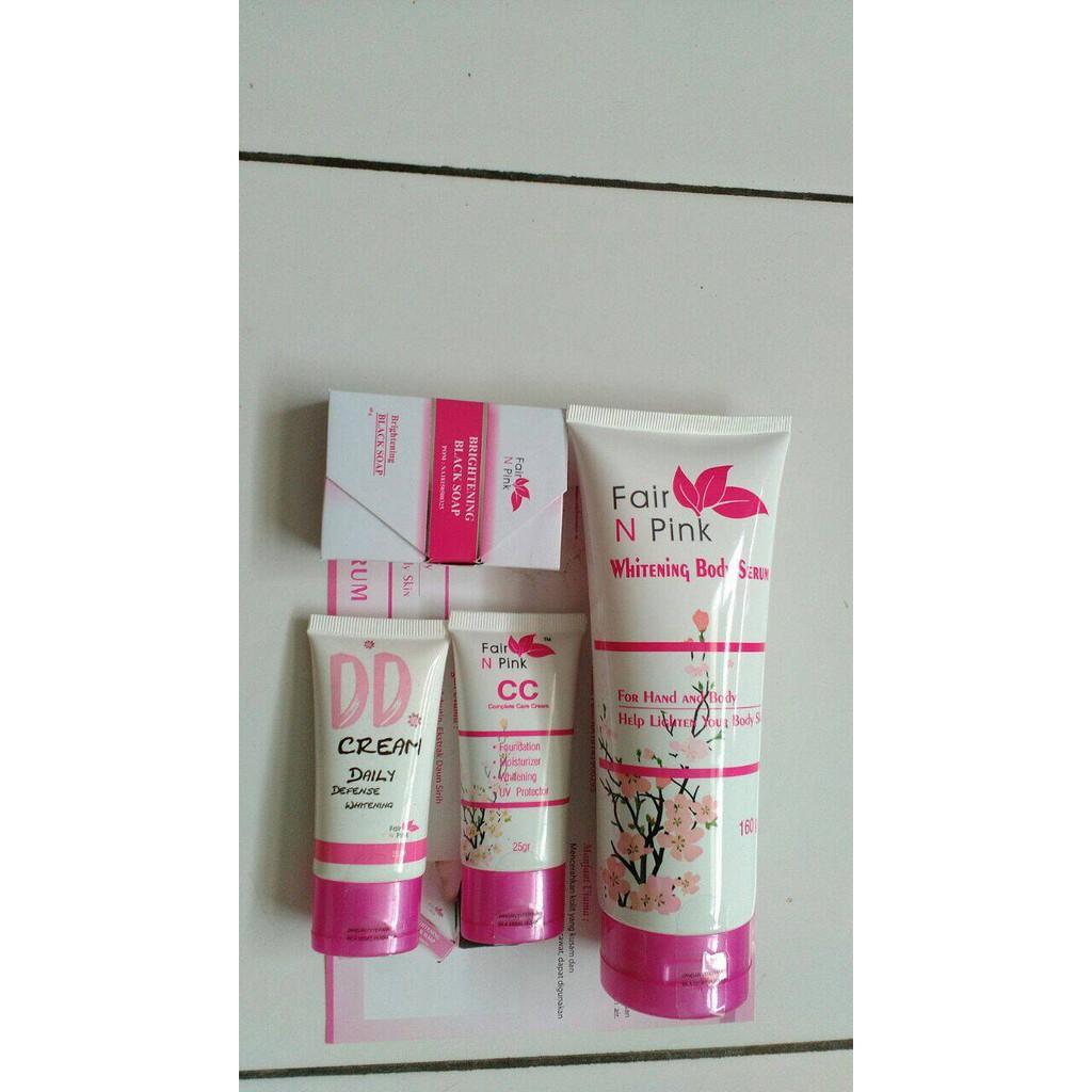 New Produk Paket Perawatan Wajah Lengkap Fair N Pink Plus Dd Serum Pemutih Badan 160ml Ber Bpom Cream Shopee Indonesia