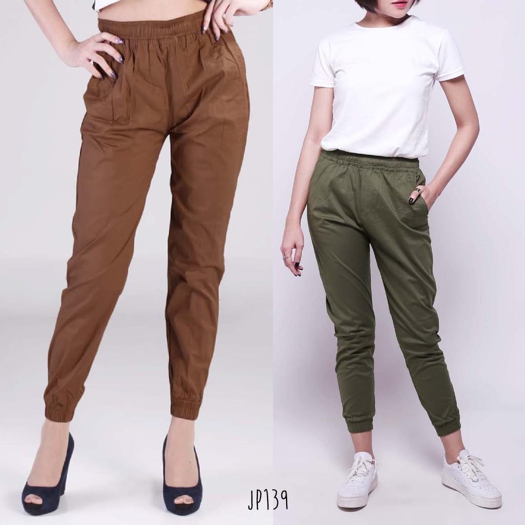 Slim List Pants Scuba Premium Celana Panjang Wanita Jp276 - Smart4K ... 543861b15c