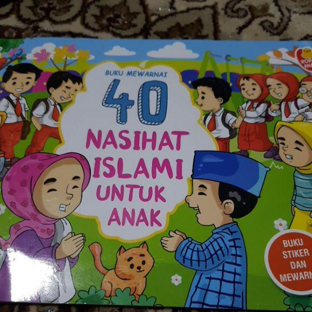 Buku Mewarnai 40 Nasihat Islami Untuk Anak Shopee Indonesia