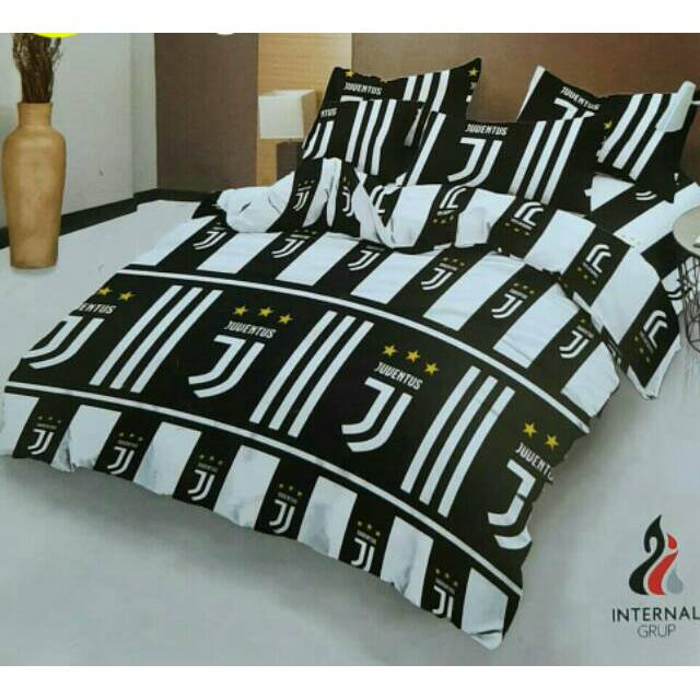 Bedcover Lady Rose Juventus 1set 180x200 Shopee Indonesia