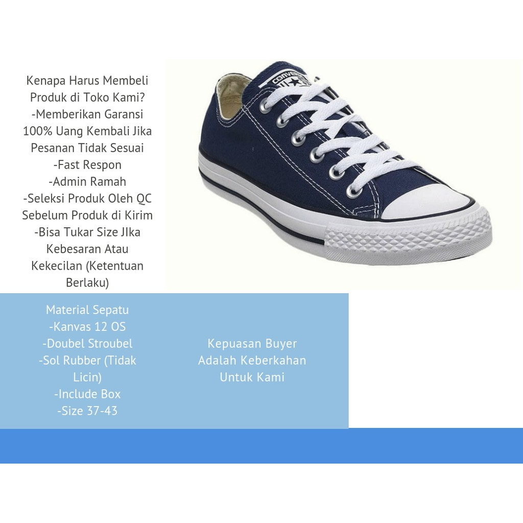 Sepatu Converse Allstar Chuck Taylor II Navy Pria dan Wanita ... 25784c1d99