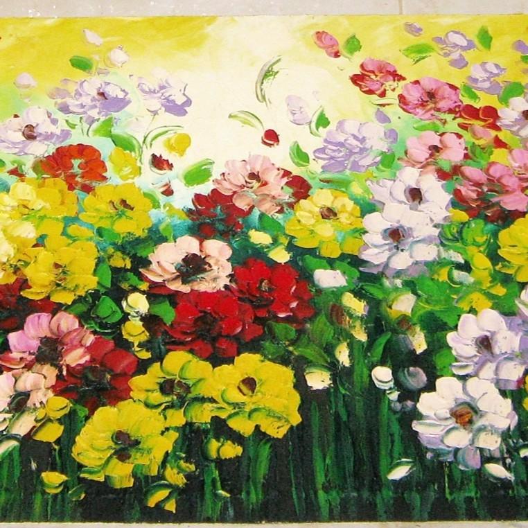 Lukisan Bunga Margot Yang Indah Dan Menawan Ukuran 45 X 120 Cm Shopee Indonesia