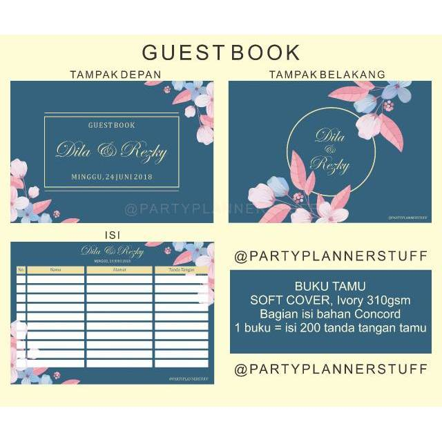 buku tamu undangan buku tamu murah perlengkapan wedding aksesoris wedding guest book wedding