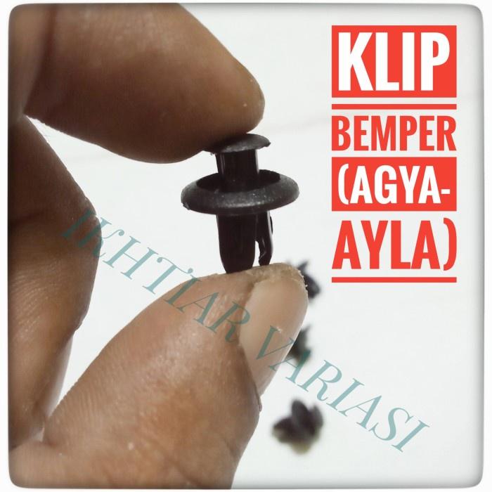 10 pcs Klip bemper Agya Ayla Kancing bemper Agya Ayla Cengkeh bemper Agya
