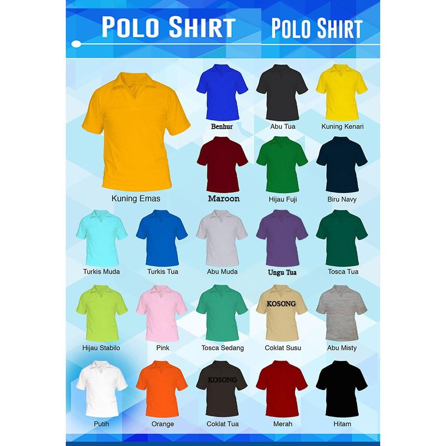 Kaos Polos Pendek Oblong Cotton Combed 18 Warna Pria Shopee Coklat 30s Indonesia