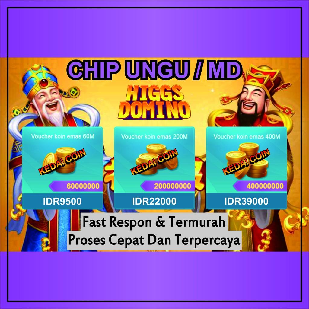 [ CHIP UNGU / MD ] KOIN RESMI COIN HIGGS DOMINO ISLAND - Proses Cepat - Chip Termurah - Chip Hoky